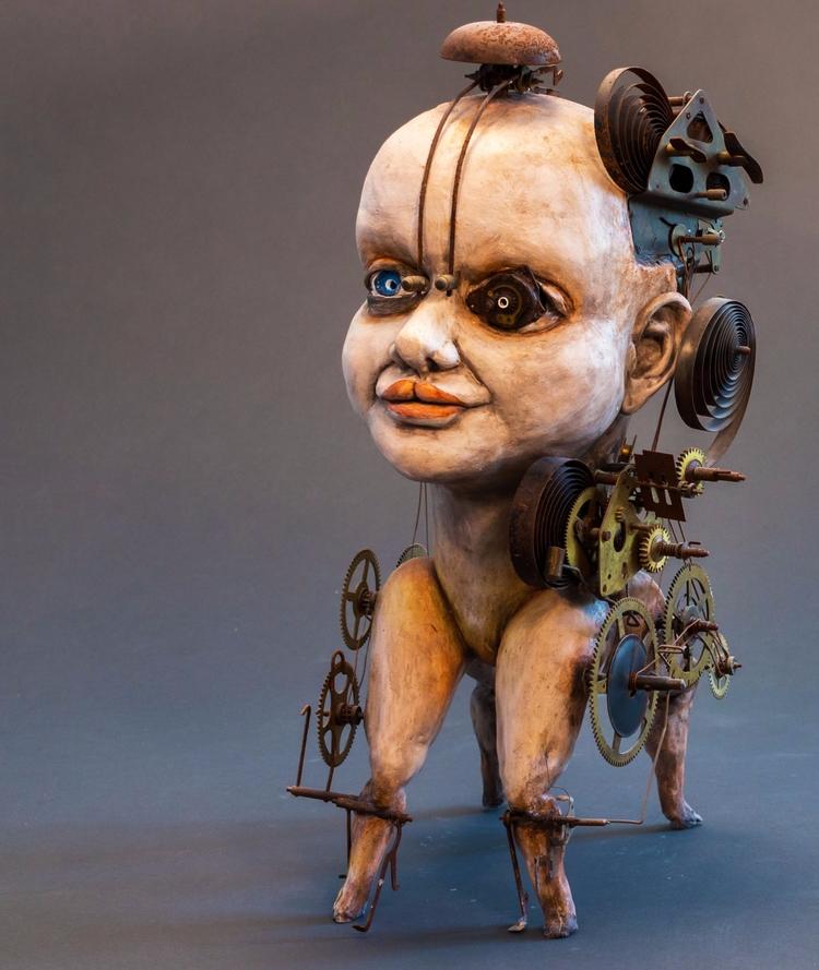 Steampunk, Ceramic statue Dirk  - dirkdahl | ello