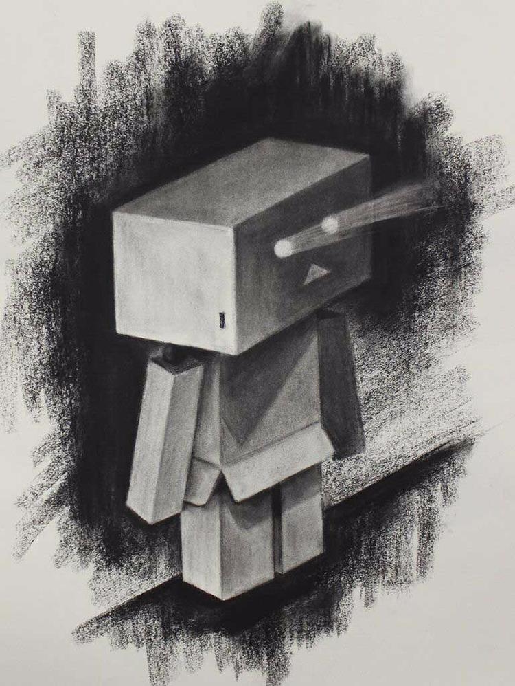 life drawing robot eyes light C - angelinecc | ello