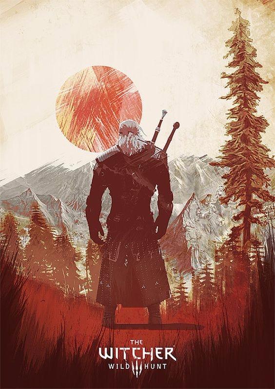 Witcher 3 Wild Hunt - illustration - paulearly   ello