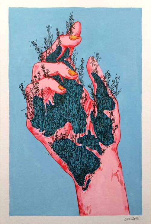 Love grows - hand, love, plants - deah_ahri | ello