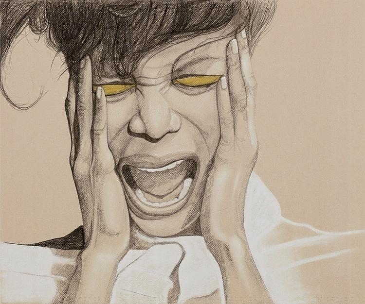 Scream. Graphite chalk paper - graphite - bymosler | ello