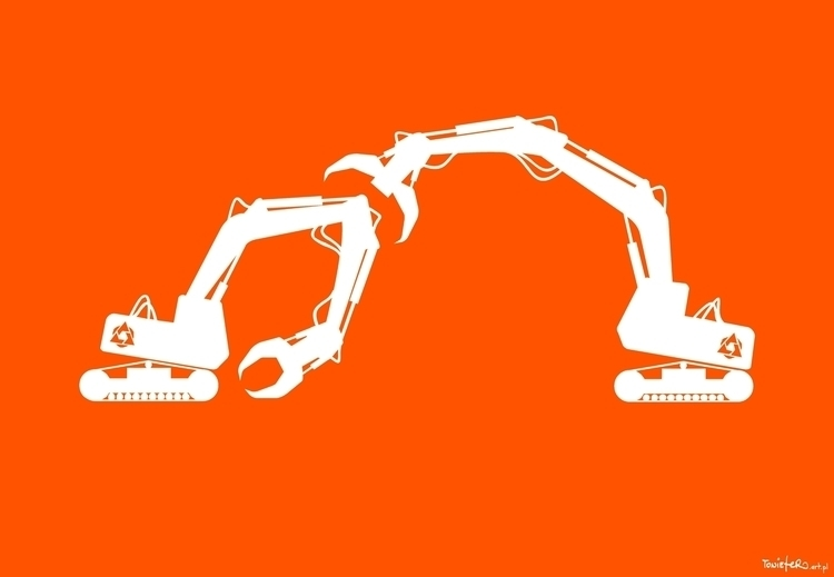Diggers - equipment, love, excavator - toniefer | ello