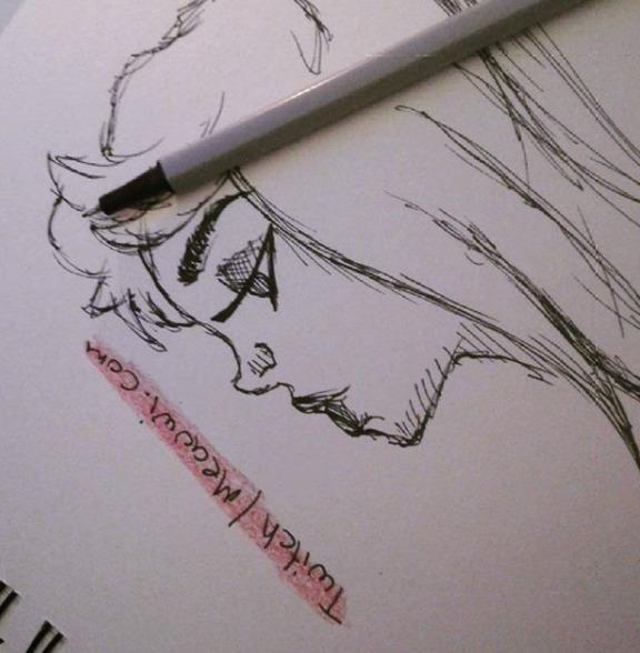 Twitch.com/Meauwi Instagram - Pencilart - meauwi | ello