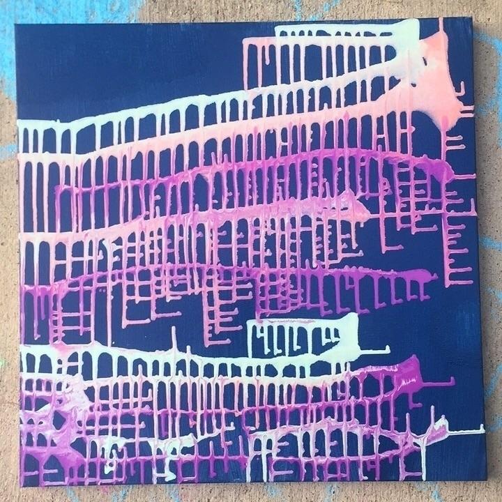 • 20x20 acrylic canvas - drippyart - artbykaylabraden | ello