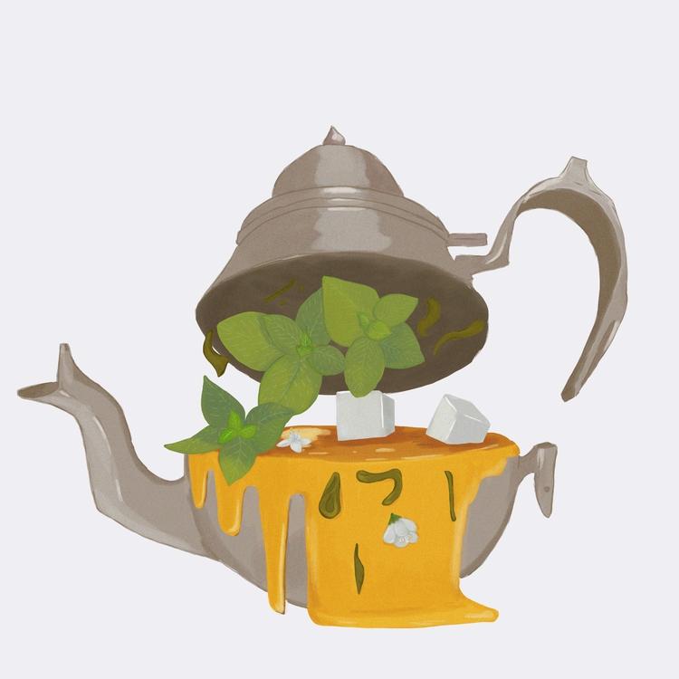 Mint tea - illustration, nafri - meriamk | ello