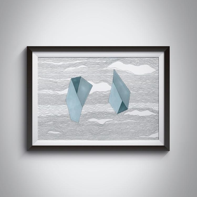 _Stone, 42x429,7 cm, ink, ilstr - ilobahie | ello