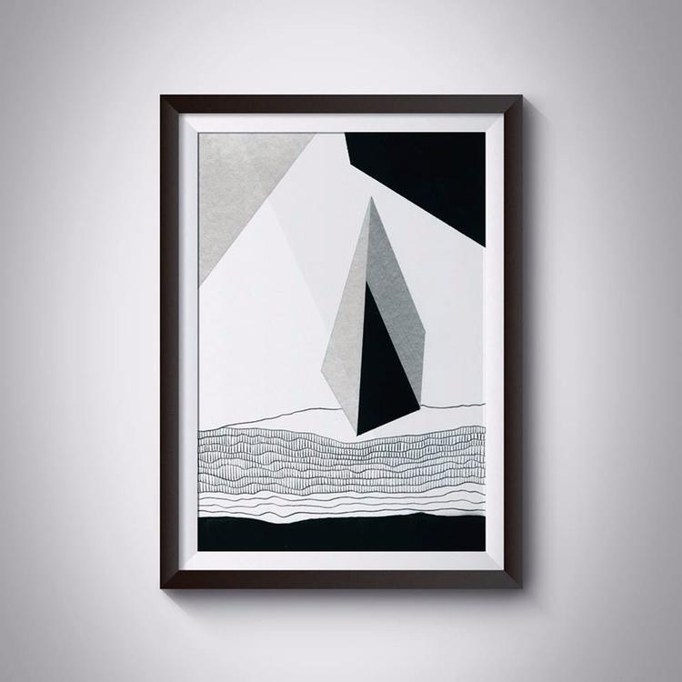 _Stone, 21x29,7 cm, acrylic, pa - ilobahie | ello