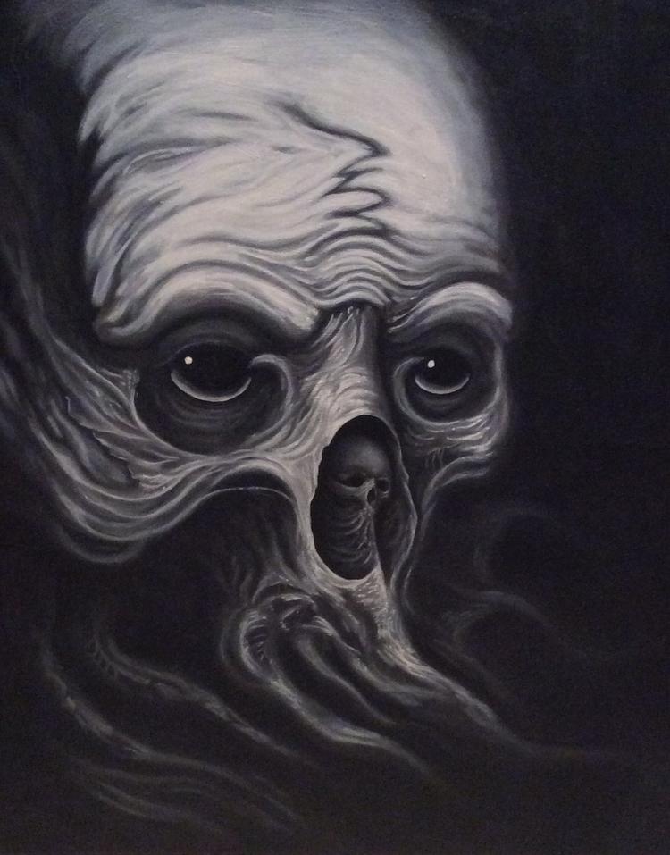 Cthulhu acrylic canvas 28x24 - chrisamlie | ello