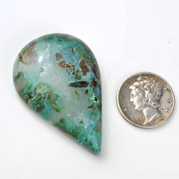 Chrysocolla Quartz Cabochon - a - mineralrare | ello