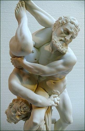 Hercules och Diomedes brottas - kjmh | ello
