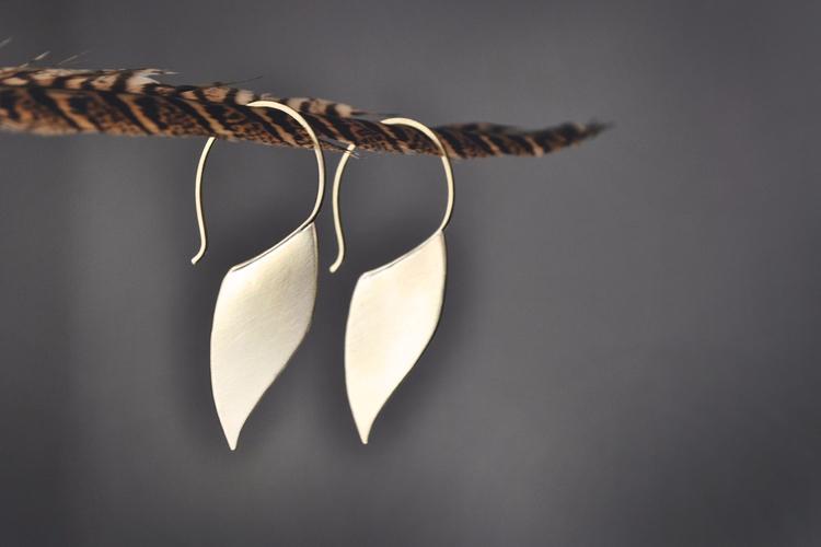 ~ golden blades Abstract Brass  - twistedjewelry | ello
