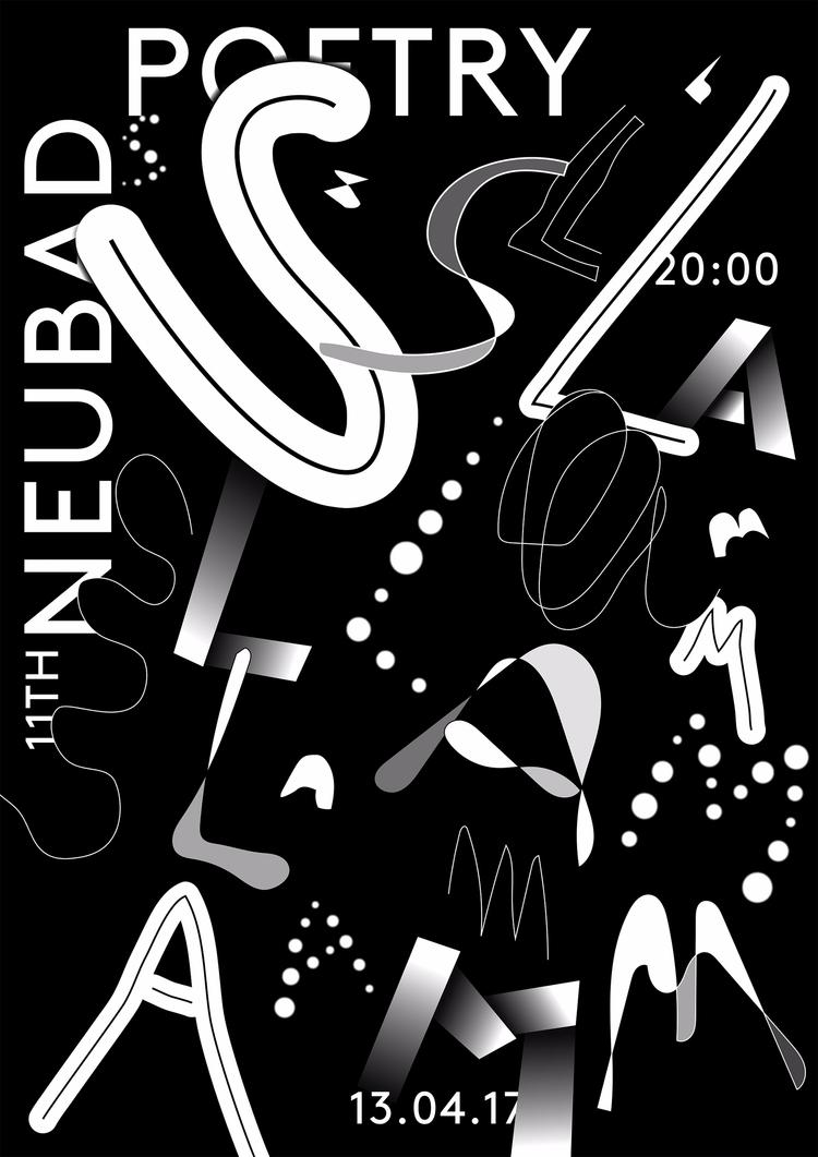 poster designed poetry slam eve - andersbakken | ello