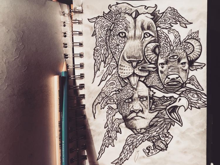 sketchbook, doodle, ezekial - caseypromise | ello