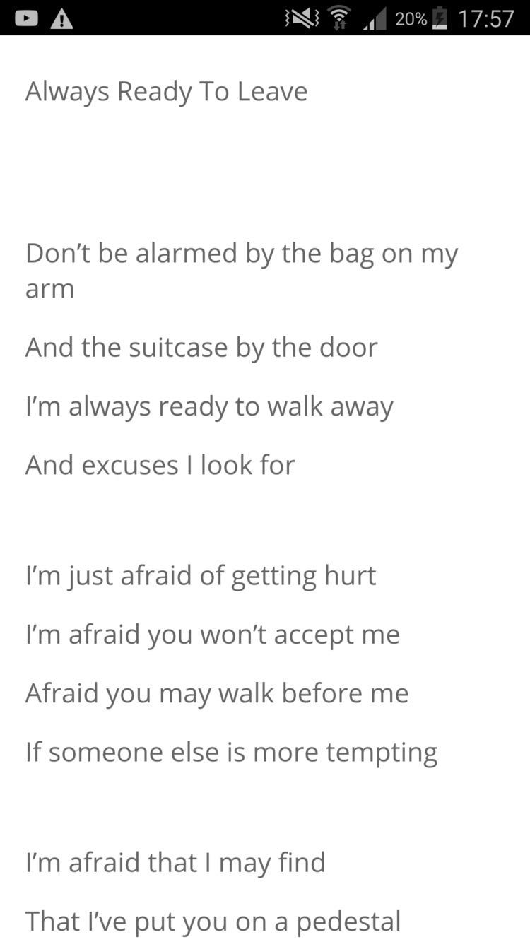 Link Poem, Ready Leave - poetry - humanityinpoetry   ello