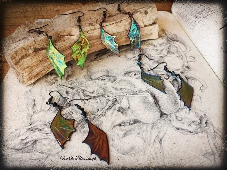 bat wing earring shop! 🖤 - faerieblessings | ello