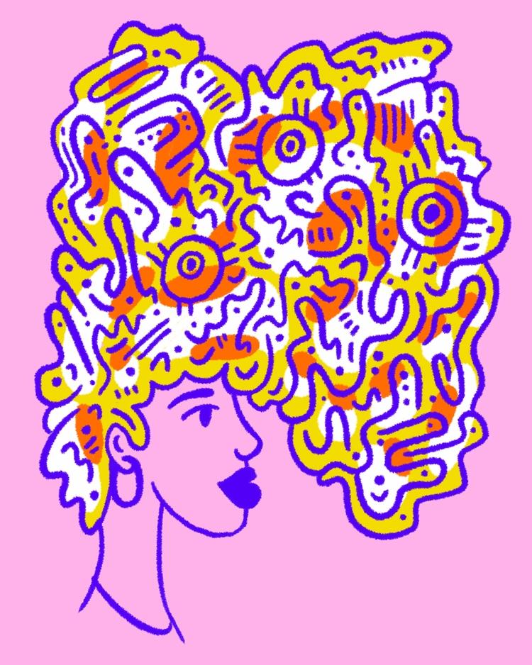 hair care - illustration, illustrator - heybop | ello