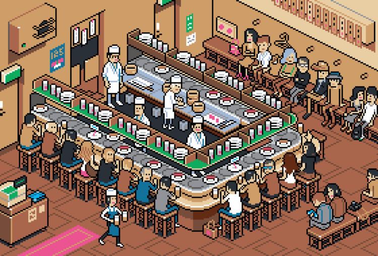 Tenkazushi Sushi Belt Restauran - eboy | ello