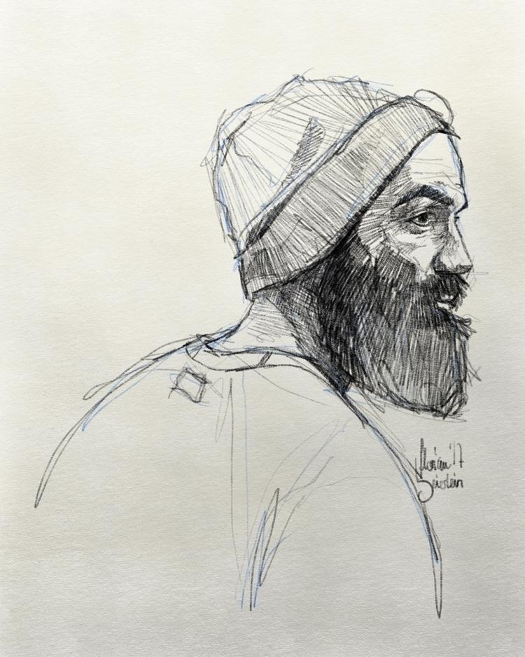 Rough 15 min  - practice., man, beard - naehrstff | ello