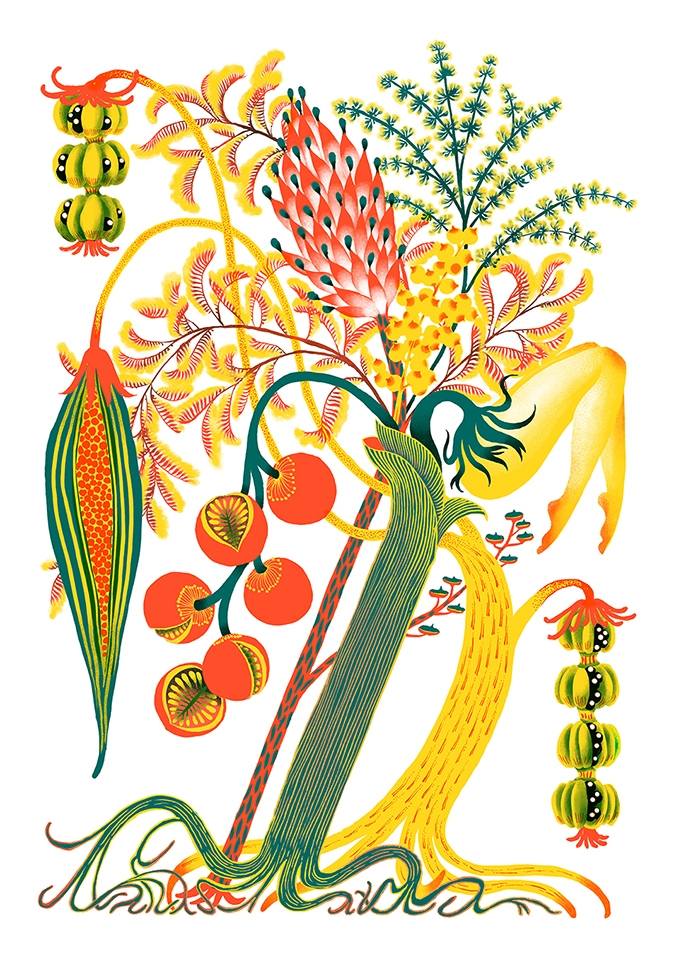 Jungles fruits. Risograph print - yuhsuan | ello