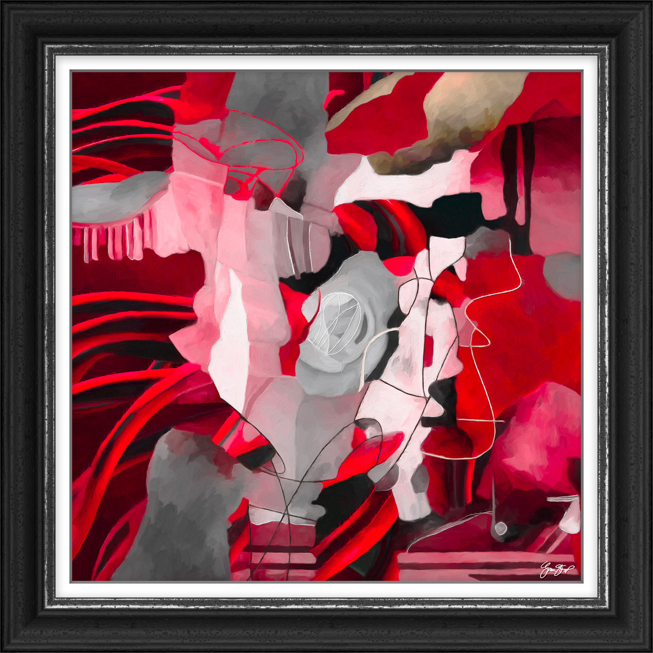 Fire Red Abstract- $300 USD - abstract - ginastartup | ello
