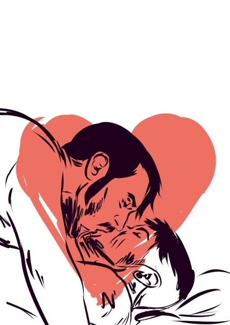 gayart, drawing, love, gay, men - laceoni | ello