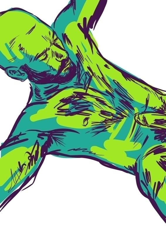 man, drawing, nude, gayart, homoerotic - laceoni | ello