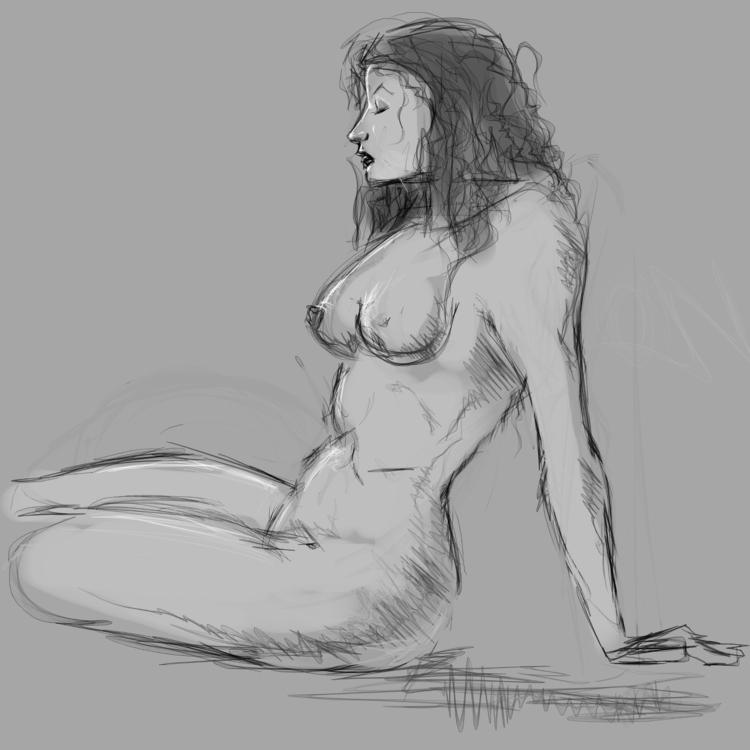 Sketching, krita, linux, nude - cjburgos | ello