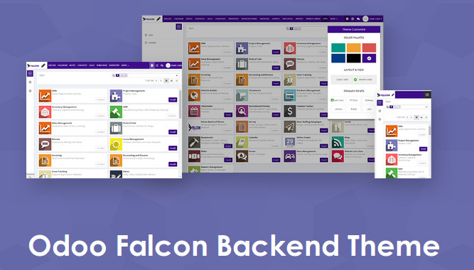 Odoo Falcon Backend Theme, Resp - appjetty | ello