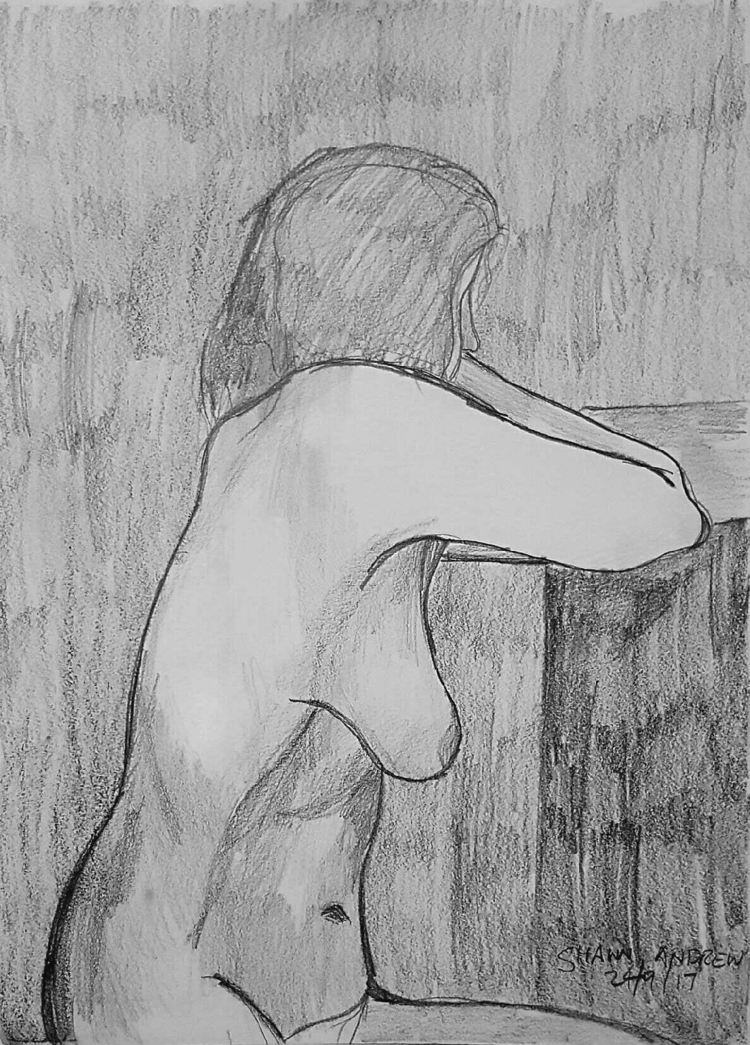 Female nude - Lead pencil paper - shawnartist | ello