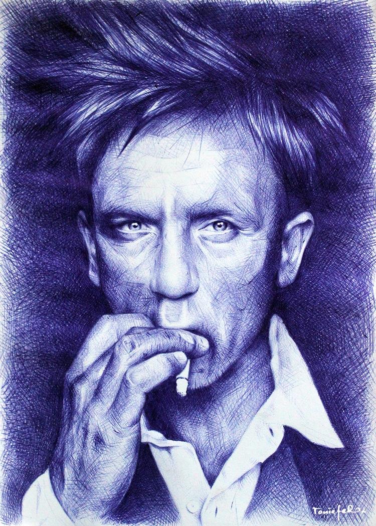 Daniel Craig ballpoint pen pape - toniefer | ello