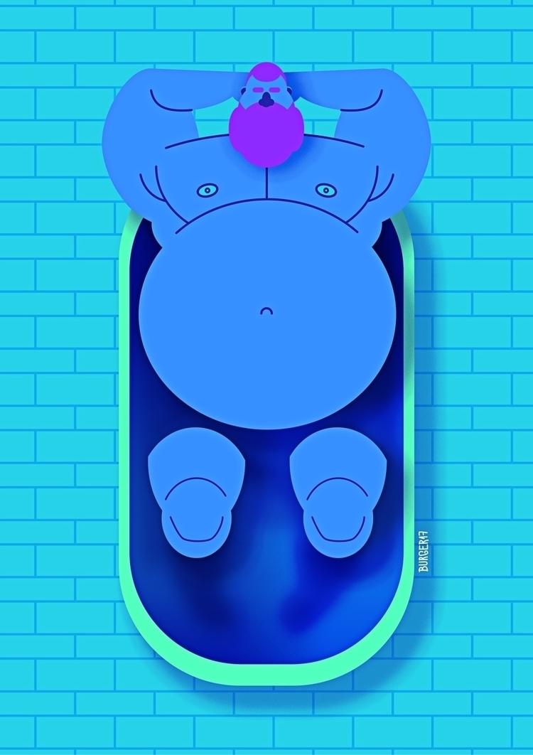 illustration, bear, oso, urso - eduardoburger | ello