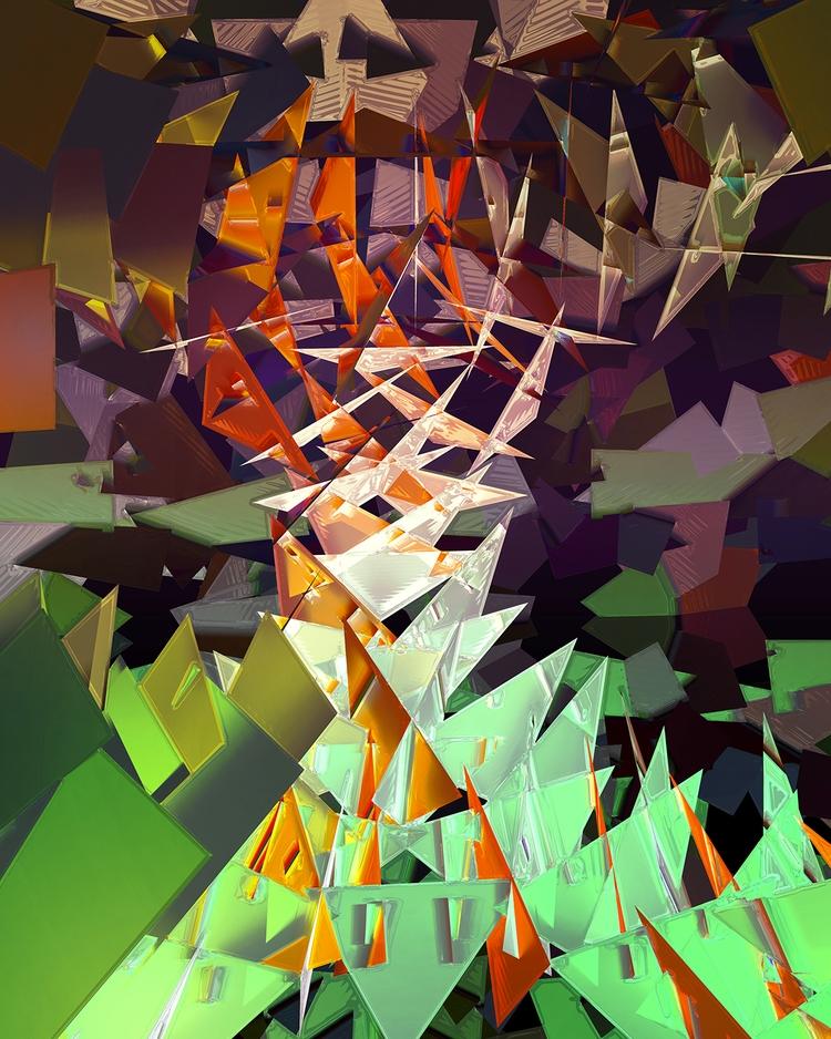 Burning Bush Digital Art - art, abstract - sphericalart | ello
