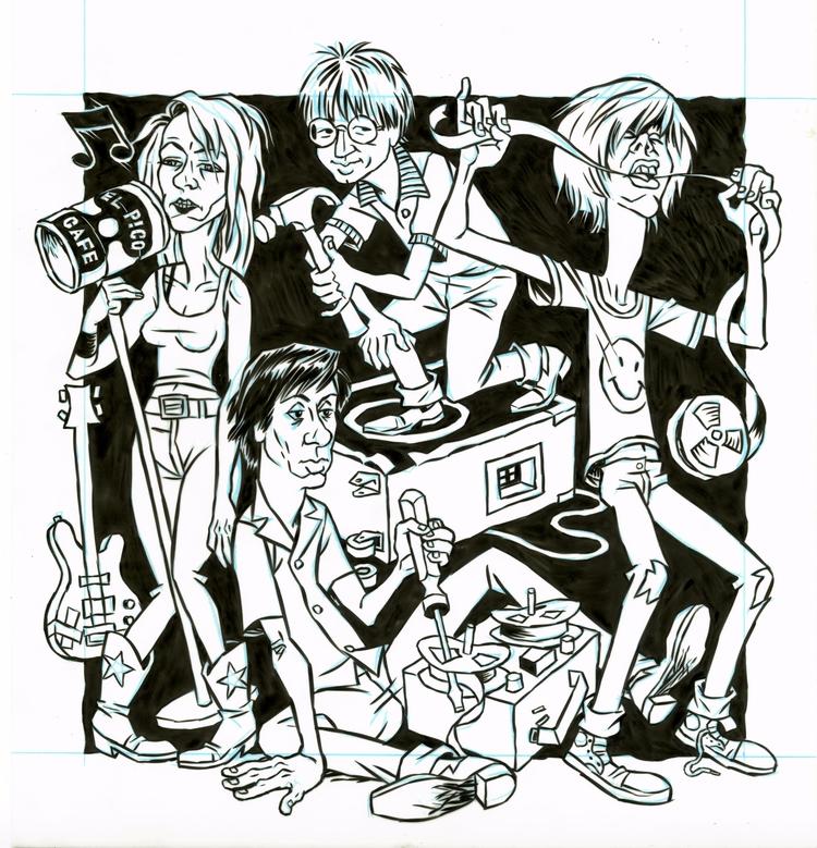 Sonic Youth illo NYPress, 7/13 - dannyhellman | ello