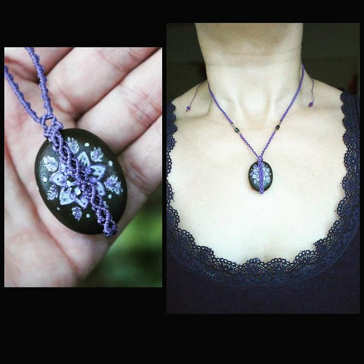 small decor - macrame, necklace - macrame_birbyzossleptuve | ello