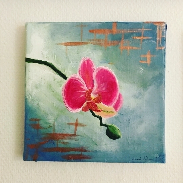 byme, art, orchid, orkide, artist - martine_poulsen | ello