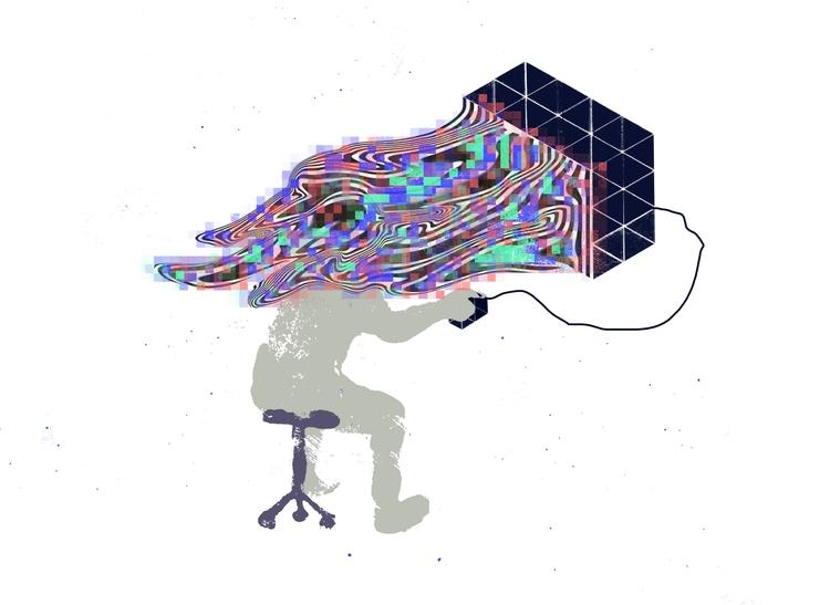 digital swarm - illustration - juliaschwarzillustration | ello