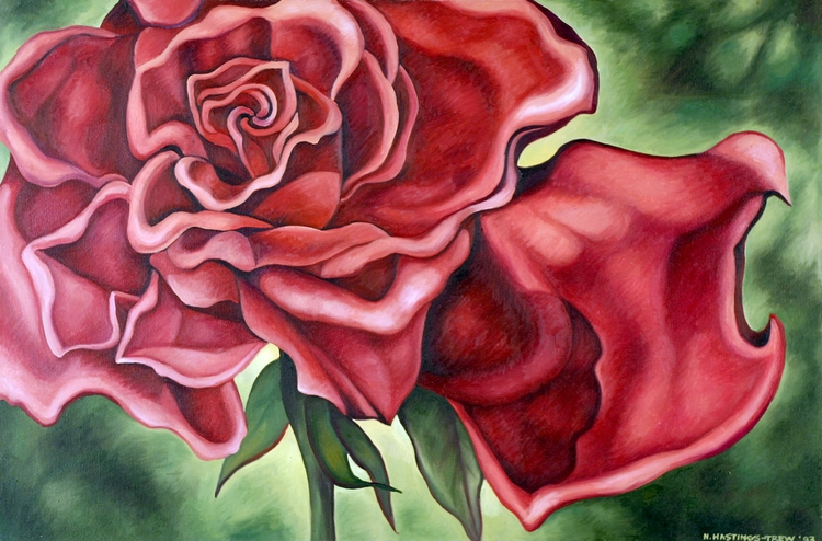 Rose Red - 1993, 20X30, oil can - nancyht | ello