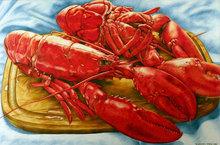 Lobster Feast – 1989, 32X48, oi - nancyht | ello