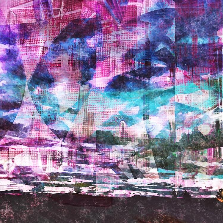 Cities Sky, digital painting Jo - jmbowers | ello