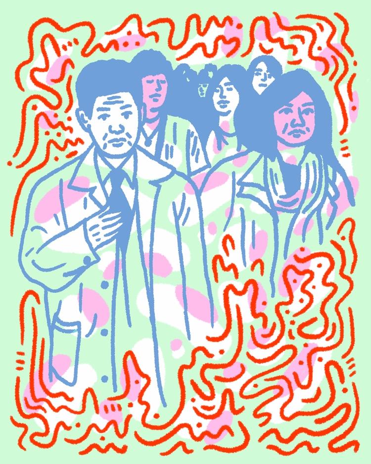 Shibuya Crowd - illustration, illustrator - heybop | ello