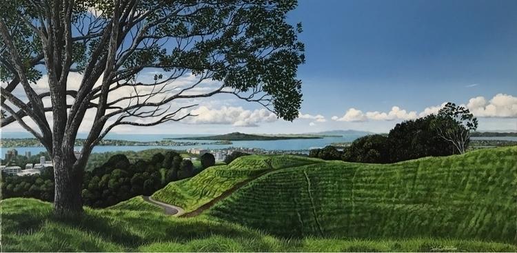 Acrylic painting, view top Mt E - josh_constantine | ello