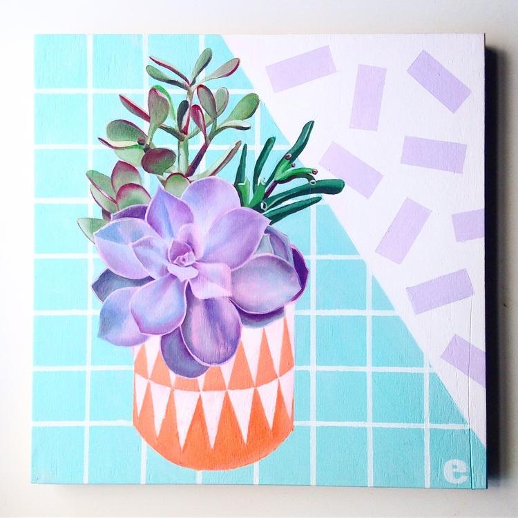 fun painting house plants 80s t - emmamount | ello