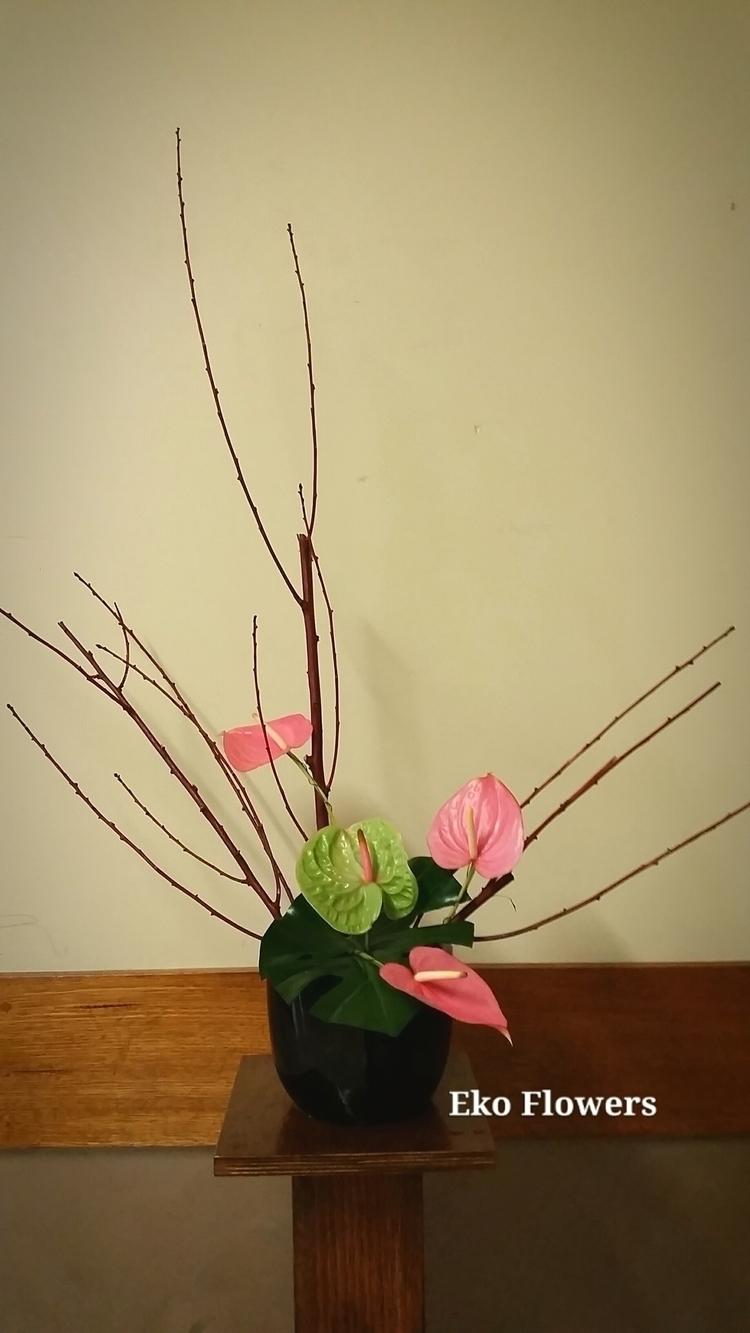 composition - ikebana, anthurium - ekoflowers | ello