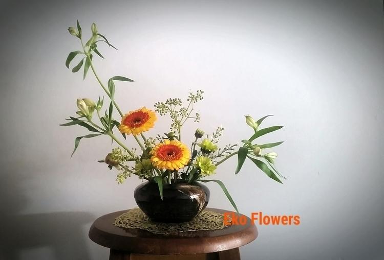 ikebana, design, gerbera - ekoflowers | ello