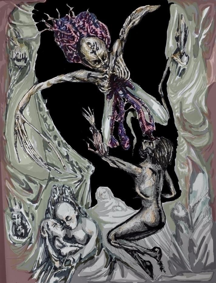 murals head, landscapes flesh w - nikita_r | ello