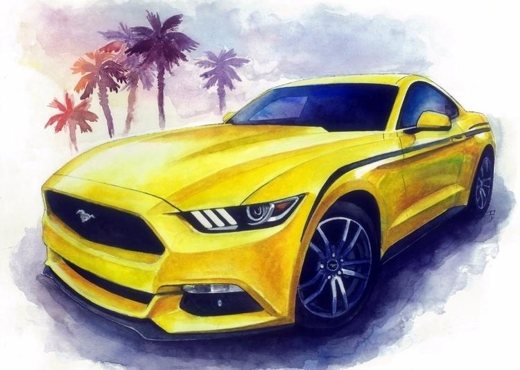 Sunny Mustang - mustang, mustangfanclub - rufinaartisr | ello