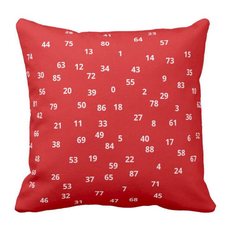 Numbers throw - liky, design, cushion - petro5va5iadi5 | ello