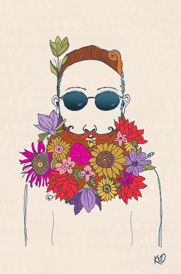 LaFlower - flowers, illustration - kim_r_draper | ello