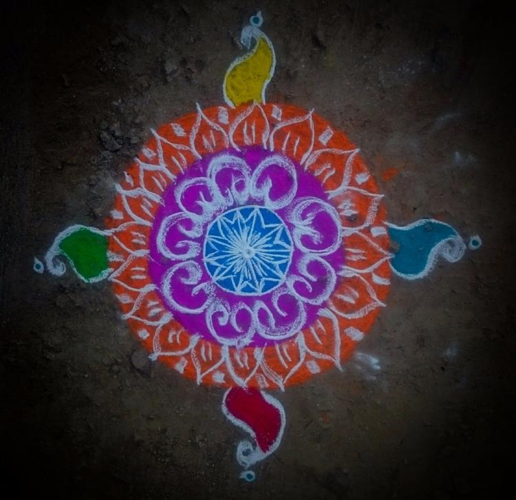 India, Rangoli - atulbw   ello