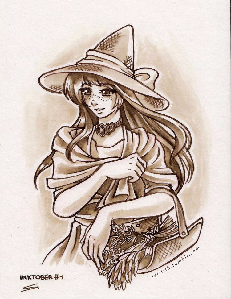 Inktober Witches | 1. Seasonal  - lyrilith | ello
